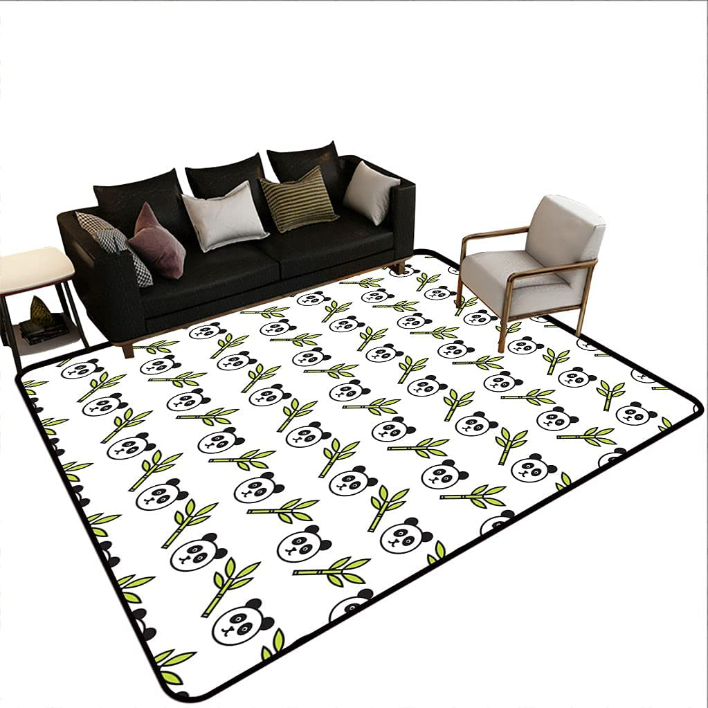 Cute Bear Decor Area Rugs with Detroit Mall Pattern Cartoon Baby a free