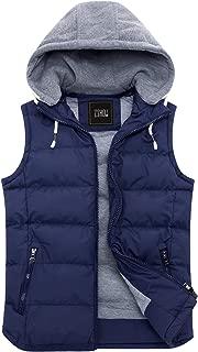 Women's Winter Padded Vest Removable Hooded Outwear Jacket
