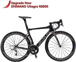 SAVADECK Phantom 2.0 Carbon Fiber Road Bike 700C Racing Bicycle with Ultegra 8000 22 Speed Group Set, 25C Tire and Fizik S...
