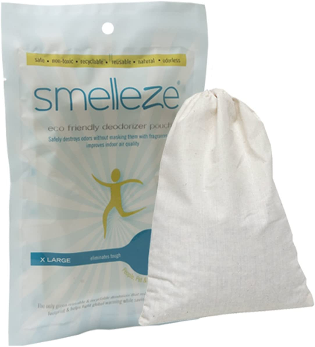SMELLEZE Reusable Bathroom Smell Max 49% OFF Removal Rids Pouch: Deodorizer Max 68% OFF