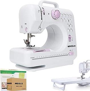 Máquina de coser, máquina de coser eléctrica con 12 puntadas, 2 velocidades, luz de costura LED, herramienta de bricolaje