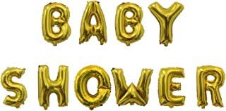 Rozi Decoration Baby Shower 18 Inch Foil Balloon Set Pack of 10 Letters - Gold (61302)