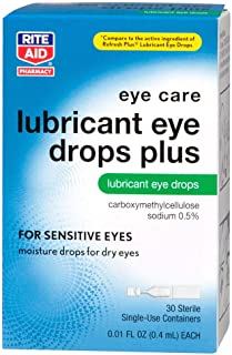 Rite Aid Artificial Tears, Lubricant Eye Drops, Single Use Containers, 30 Count
