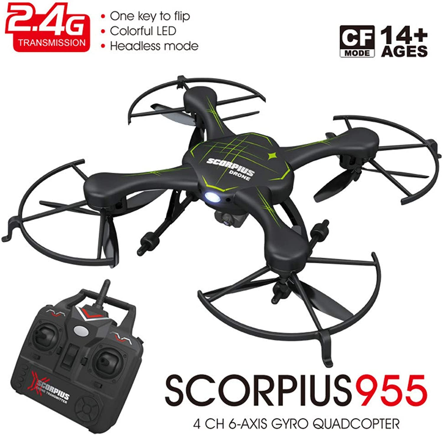 TONGTONG Drohne mit Kamera, Arme RC Drone mit Wi-Fi-Kamera Quadcopter Altitude Hold, Headless Mode, 3D Filp, One Key Return Easy Operation für Kinder und Anfnger