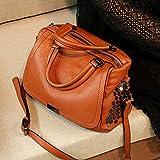LBYMYB Bolso Femenino Nueva Marea Moda de Verano Suave Capa Superior de Cuero Salvaje Messenger Bag Bolso de Cuero portátil Bolso de Mano (Color : Brown)
