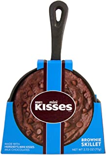 Hershey's Brownie Cast Iron Skillet with Mini Kisses Brownie Mix, 5 Inch