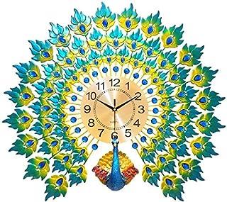 Classic Quartz Wall Clock Non-Ticking Fashion Gift Wall Clocks, Style Decorative Peacock Operated Clocks,Personalized Crea...
