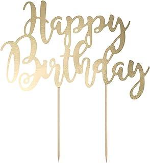 Cake Topper Happy Birthday gold Torte Kuchen