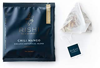 Rishi Tea Chili Mango Herbal Tea | Immune & Heart Support, USDA Certified Organic, Fair Trade Botanical Blend, Antioxidant...