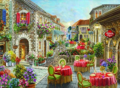 Silence 1000 Stück PuzzleKaffee Nicky Böhme-Blossom Cafe Street 48X66 cm 19 x 26 Zoll 1074-Multicolor_Turkey