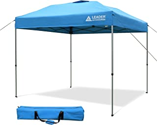 Leader Accessories 8' x 8' Straight Wall Instant Canopy with Carry Bag Blue