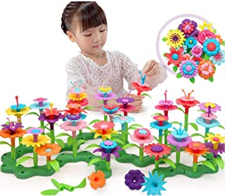 HOWADE 98PCS Build-a-Bouquet Floral Arrangement Playset - BPA &Phthalates Free, Creative Flower Gargening Block Play Toy f...