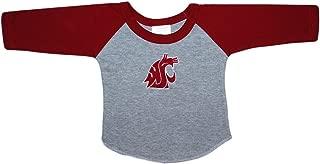 Washington State University Cougar Baby and Toddler 2-Tone Raglan Baseball Shirt