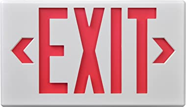Sure-Lites LPX7 LED Commercial Exit, White Housing, Universal Face, Red and Green Letters, Self-Powered