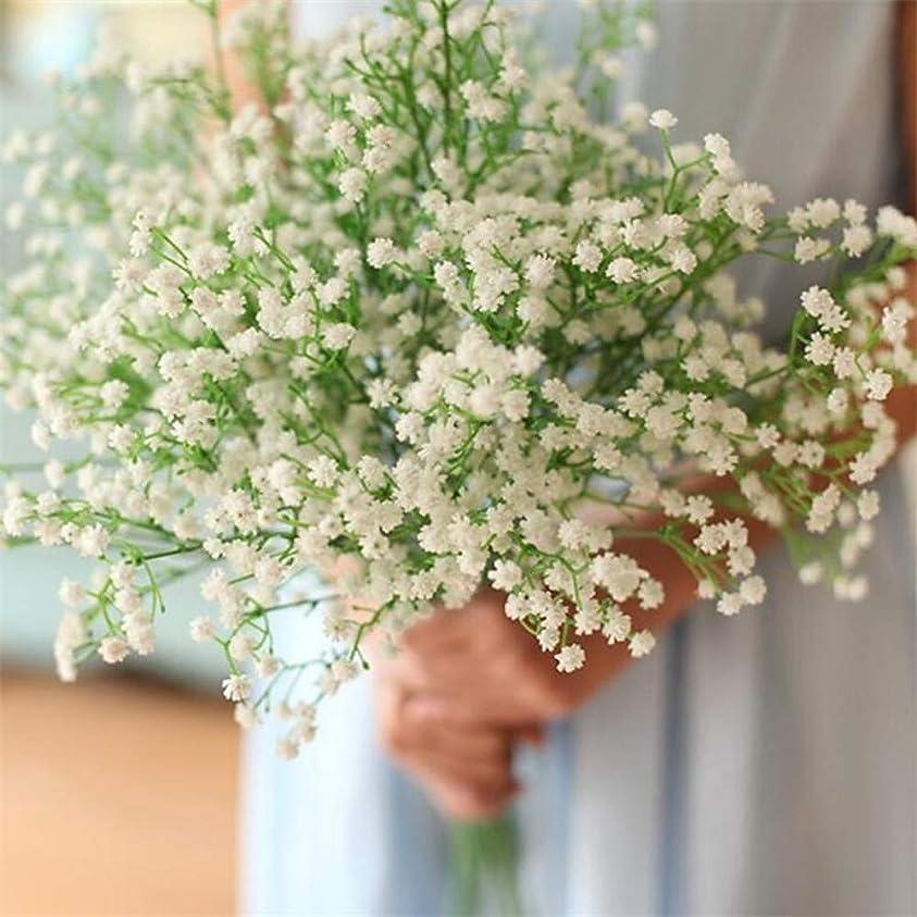 どのように-造花 人工花 12 ブランチ クラシック 近代の かすみ草 テーブルトップフラワー,イエロー