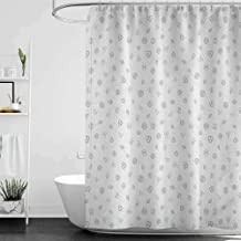 hengshu Money Odorless Waterproof Shower Curtain Cryptocurrency Themed Pattern Banking Business Blockchain Exchange and Finance Large Home Decoration W108 x L72 Inch Black and White