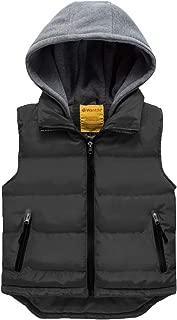 Wantdo Girl's Hooded Puffer Vest Padded Sleeveless Jacket Gilet