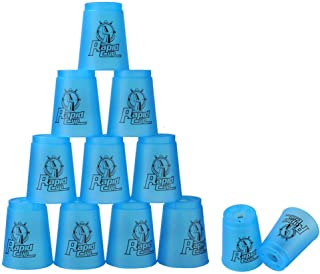 Super Stacks Quick Stacks Cups, Rapid Sport Stacking Cups Speed Training Set of 12 (Blue)