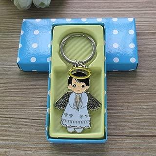Angel Boy Keychain Favor (12PCS) Baptism/Recuerdos de Bautizo/First Communion/Primera Comunion llaveros/Gift for Guest