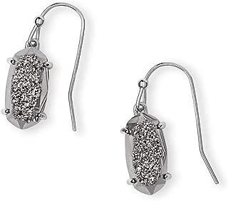 Kendra Scott Lemmi Drop Earrings in Platinum Drusy In Rhodium