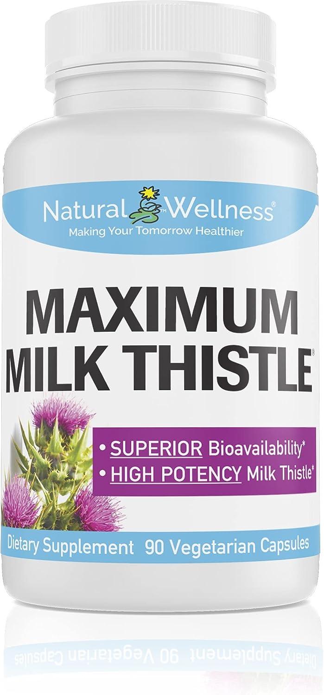 Natural Wellness Maximum Milk Thistle 240mg 90 Ranking integrated 1st place Mesa Mall Silybin Caps Ph -