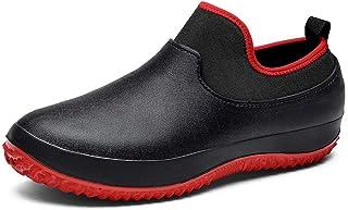 Unisexe Wellington Boots Homme Court Imperméable Femme Bottes de Pluie Antidérapantes Confortable Souple 35-49
