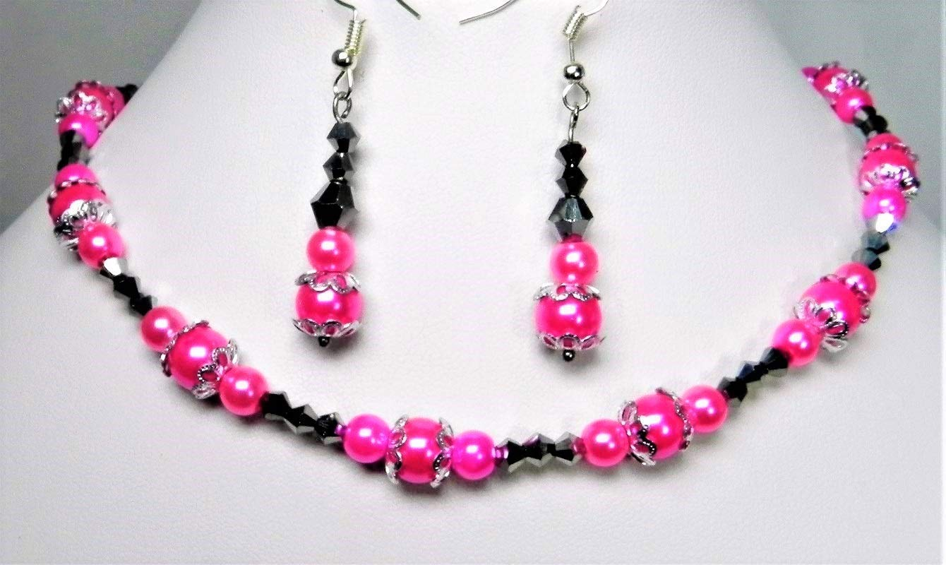 Gorgeous Australian Crystal Latest item and Pearl mart Set Jewelry