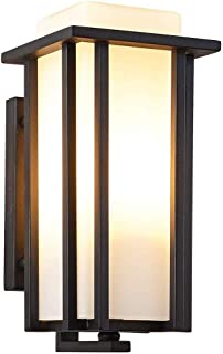 Belief Rebirth Outdoor Exterior Wall Lantern Lighting Sconce as Porch Light Fixture,Weather & Rust Resistant,Black Finish with Frosted Glass for Exterior House Deck Patio Porch Lighting