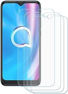 TTJ 4 stycken skottsäkert glas skyddsfolie för Alcatel 1SE 2020, 9H härdat glas pansarglasfilm anti-rep/anti-fingeravtryck...