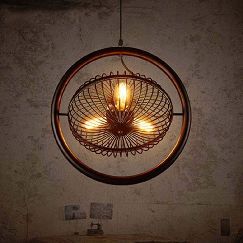 YINGGEXU Lámpara de techo Lámparas colgantes moderno retro del estilo de la lámpara de la lámpara de techo lámpara antigua del ventilador bar lámpara del techo del paisaje Ventilador Industrial Light