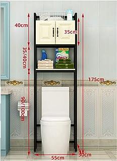 KOKOF Étagère de toilette de rangement au-dessus du sol de toilette étagère de rangement de salle de bain étagère de sol a...