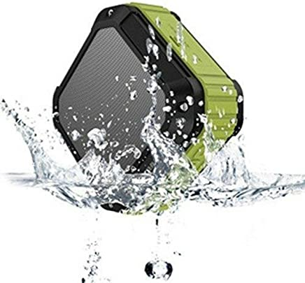 AUKEY Bocina Altavoz Bluetooth Portátil para Celular Resistente al Agua Color Verde con Gris Militar