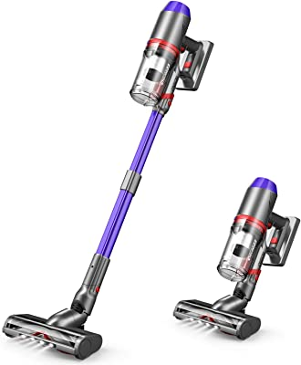 ONSON Cordless Vacuum Cleaner, 55 Minutes Long Runtime Stick Vacuum with Smart Sensor Tech, Upgraded V-Shape Brush 4 in 1 Portable Handheld Vacuum Cleaner for Hard Floor Stairs Pet Hair Deep Clean