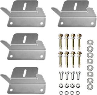 HQST Solar Panel Mounting Z Brackets with Nuts and Bolts – 4 Sets of RV, Boat,..