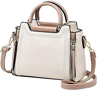 NIYUTA Damen handtaschen Frauen Stilvolle PU Schultertasche Taschen Umhängetasche Weiß