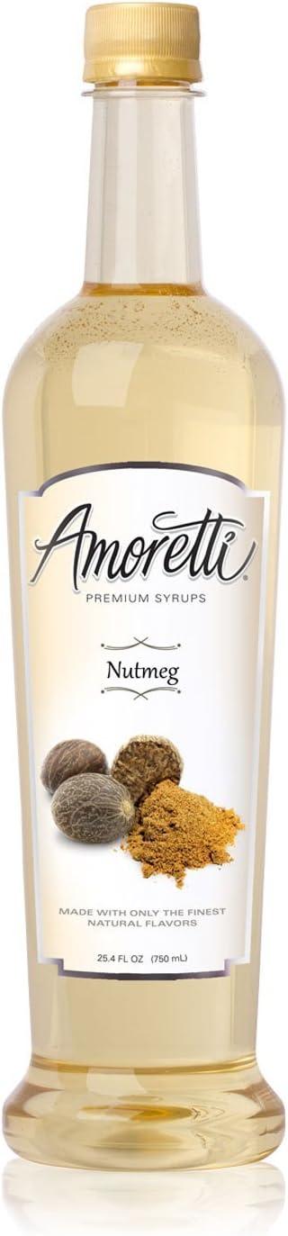 Amoretti Jarabe Premium, nuez moscada, onza 25,4