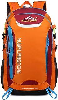 Unisex Waterproof Backpack Hiking Bag Cycling Climbing Backpack Travel Outdoor Bags Men Women Anti Theft Sports Bag(Orange,30 * 22 * 50cm)