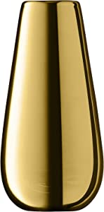 LSA International jarrón de flores metálico H14cm oro