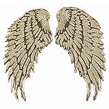 1 par de lentejuelas alas de ángel para planchar, para manualidades, apliques...