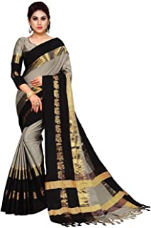 3adfcb96d8312f Vivan Trendz Women's Cotton Silk Saree With Blouse Piece.(Multicolored)