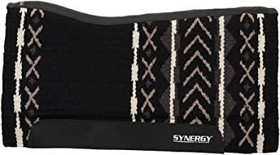 """Weaver Leather Synergy Contoured Performance Saddle Pad, 33"""" L x 38"""" W - 1"""" Thick, Merino Wool"""