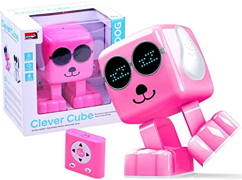 BSD RC Ferngesteuertes Roboter - Smart Roboter Hund - Clever Cube - Blautooth - Rosa