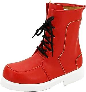Allten My Hero Academia Izuku Midoriya Red Half Boots Shoes Cosplay Costume (9 M US Female)