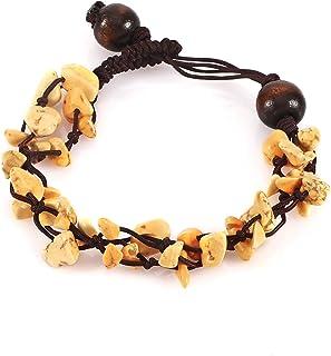 أساور خرز الحجر الطبيعي اليدوية الحصى ستراند سوار النساء تركواز ريكي شفاء أساور خلخال مجوهرات قابل للتعديل