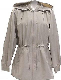 Ladies Jacket Back Ruffle Hem (Beige, Small)