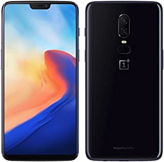 OnePlus 6 A6000 64GB/6GB Mirror Black - Dual Back Cameras, Face & Fingerprint Identification, 6.28