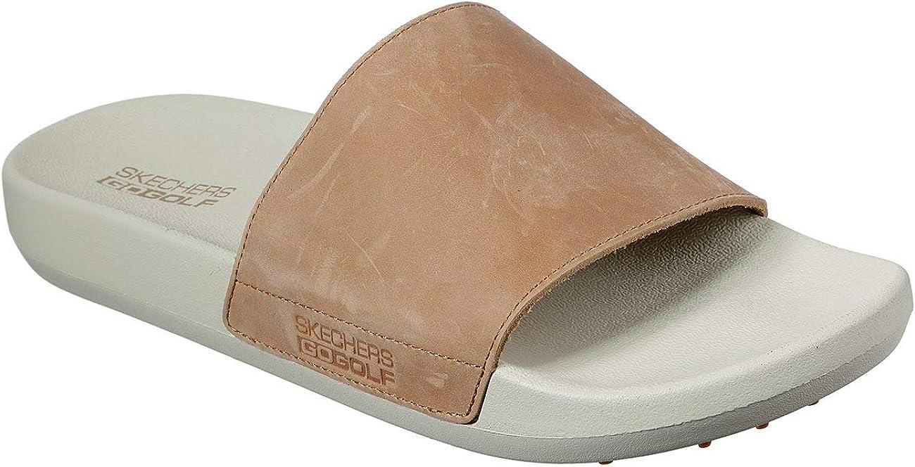 Skechers New popularity Men's 19th Hole Leather Strap Sandal Slide Arlington Mall Golf