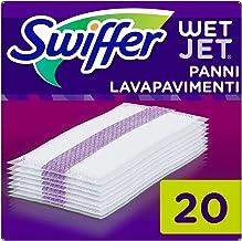 Swiffer Wetjet Bezem Spray Refill reinigingsdoekjes voor alle vloeren, 1 verpakking (1 x 20 stuks) parent 1x20pc paars
