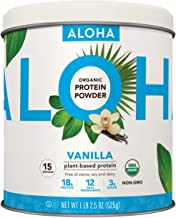 Plant-Based Protein Powder | Organic Vanilla Keto Friendly Vegan Protein with MCT Oil, 18.5 oz, Makes 15 Shakes, Vegan, Gl...