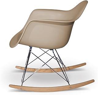 Aryana Home Chaise à Bascule Réplique Eames Beige